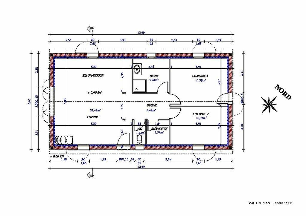 Maison à vendre 4 69m2 à Beaufort vignette-8