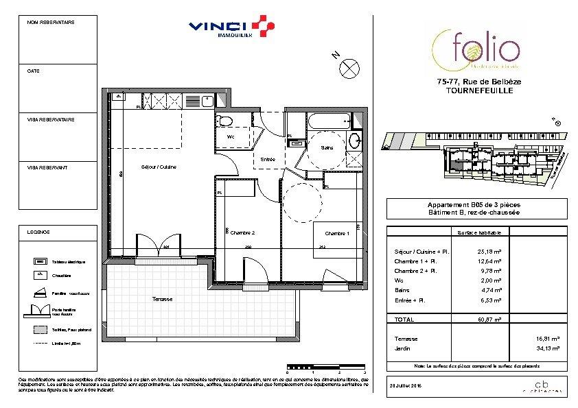 Appartement à louer 3 60.87m2 à Tournefeuille vignette-9