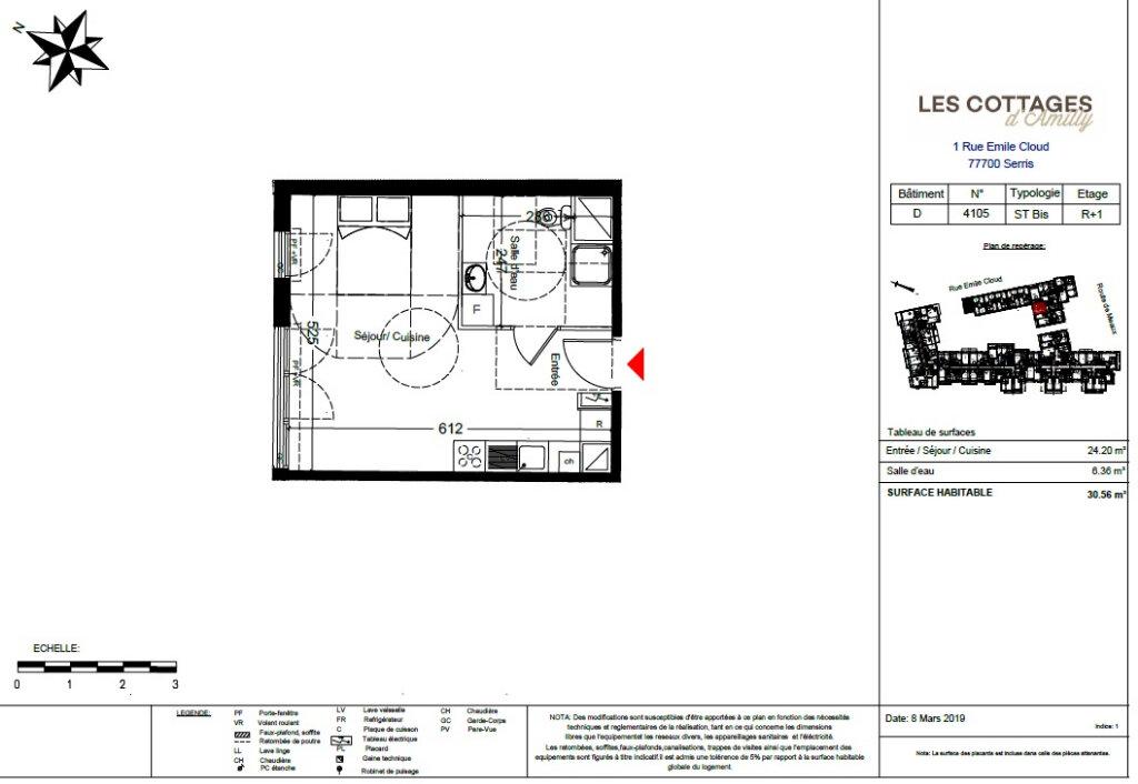 Appartement à vendre 1 30.56m2 à Serris vignette-2
