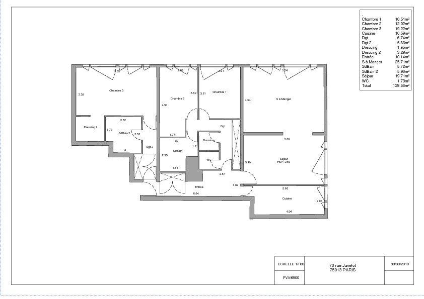Appartement à vendre 5 139m2 à Paris 13 vignette-1