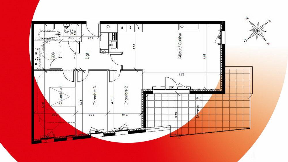 Appartement à vendre 4 90m2 à Montpellier vignette-3