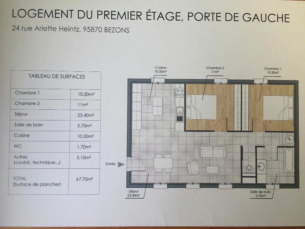 Achat Appartement 3 pièces à Bezons - vignette-4