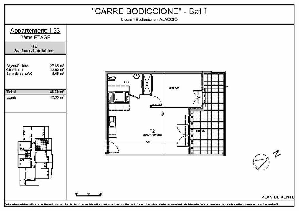 Achat Appartement 2 pièces à Ajaccio - vignette-3