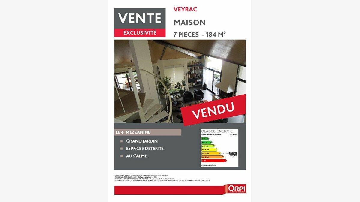 Achat Maison 7 pièces à Veyrac - vignette-1