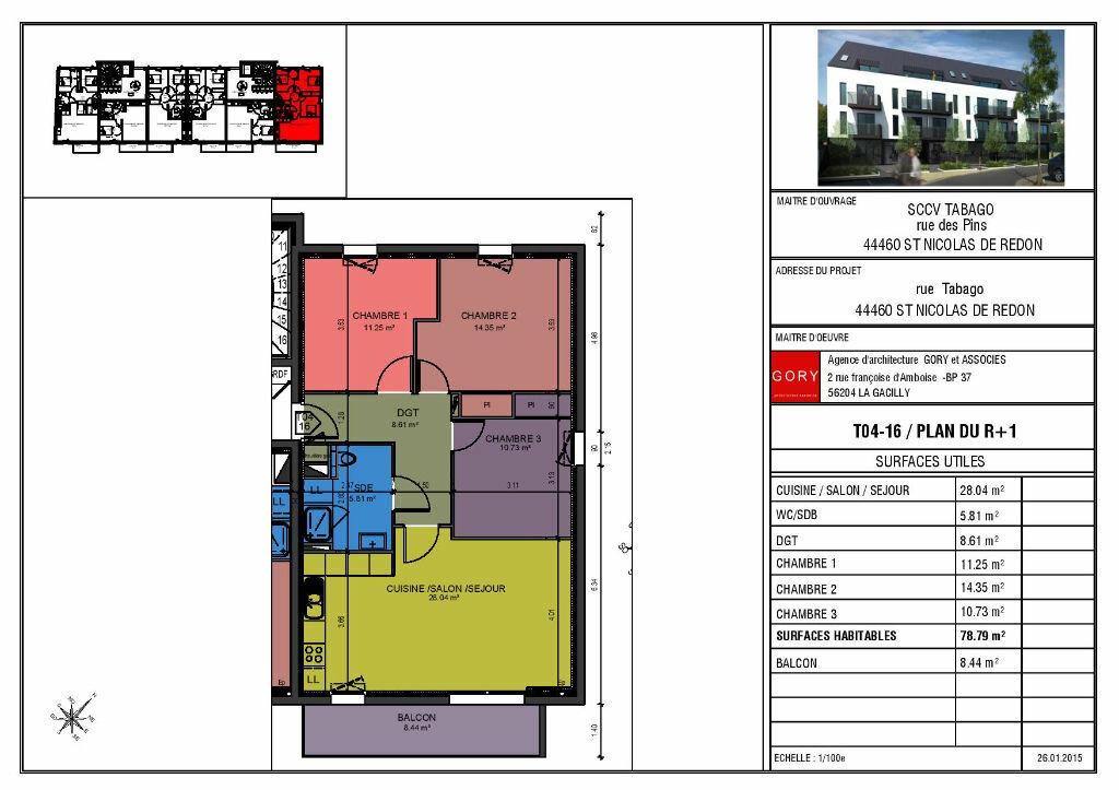 Achat Appartement 4 pièces à Saint-Nicolas-de-Redon - vignette-2