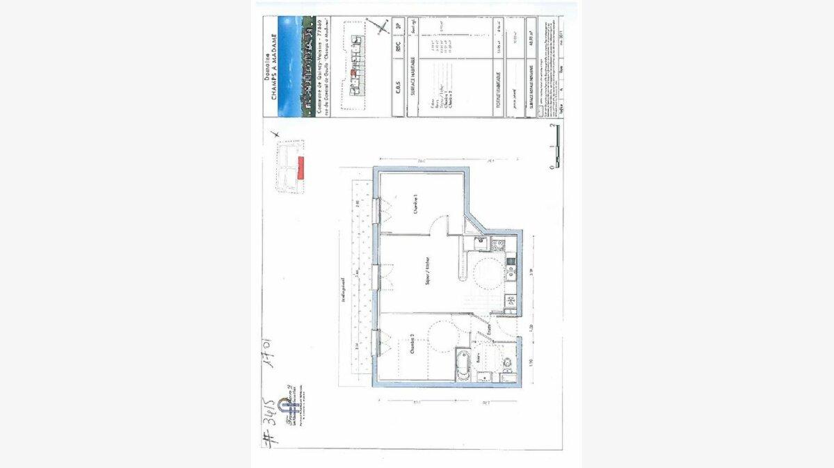 Achat Appartement 3 pièces à Quincy-Voisins - vignette-1