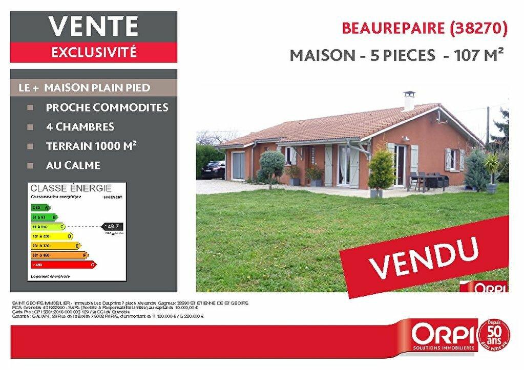 Achat Maison 5 pièces à Beaurepaire - vignette-1