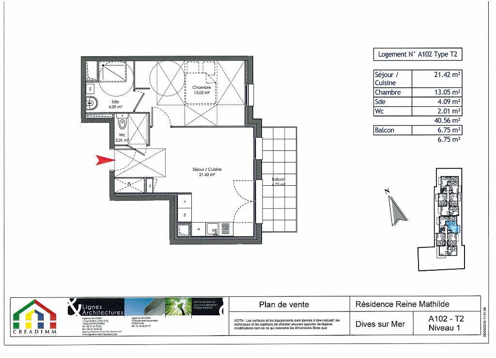 Achat Appartement 2 pièces à Dives-sur-Mer - vignette-2