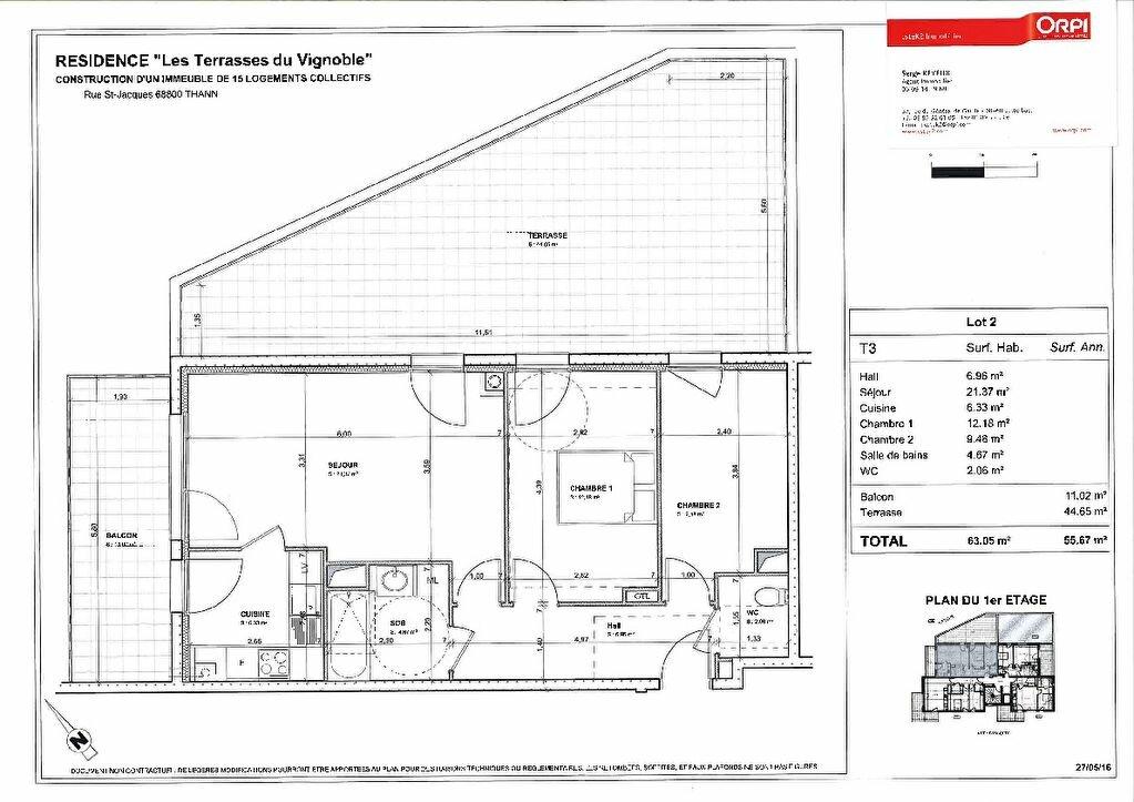 Achat Appartement 3 pièces à Thann - vignette-2