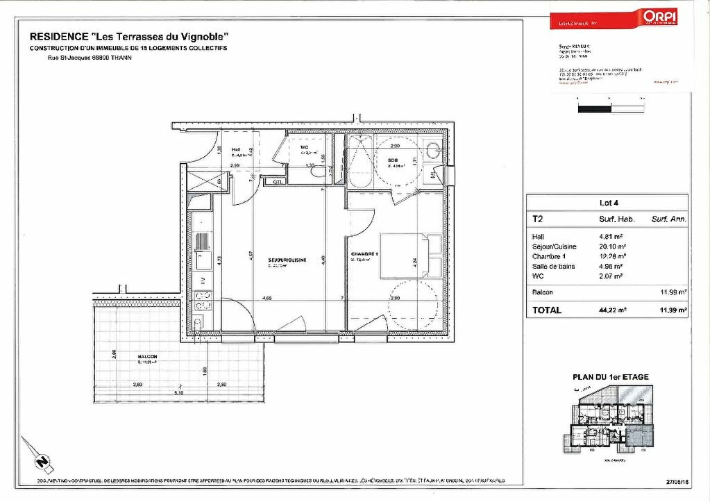 Achat Appartement 2 pièces à Thann - vignette-2
