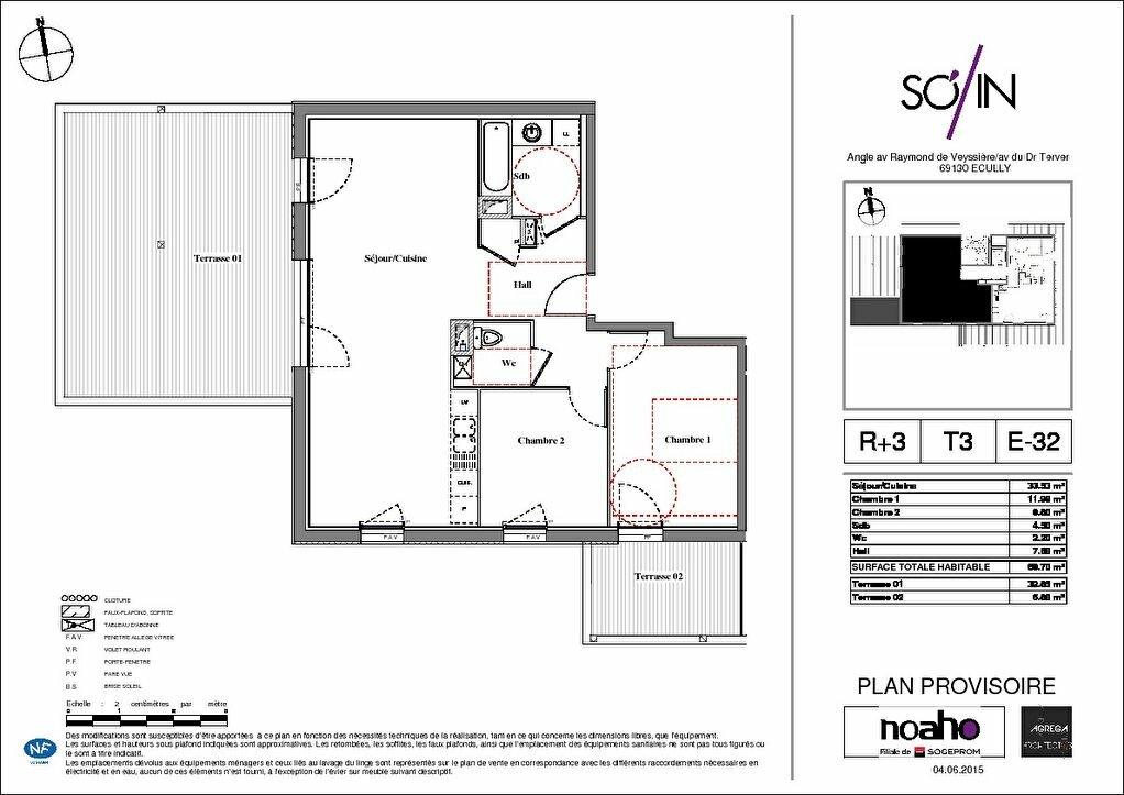 Achat Appartement 3 pièces à Écully - vignette-2
