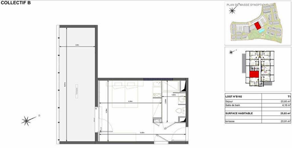 Achat Appartement 1 pièce à Sérignan - vignette-2