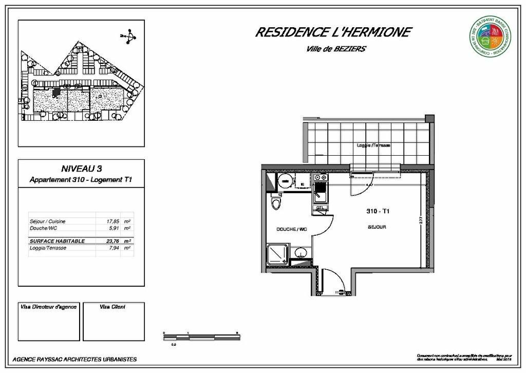 Achat Appartement 1 pièce à Béziers - vignette-3