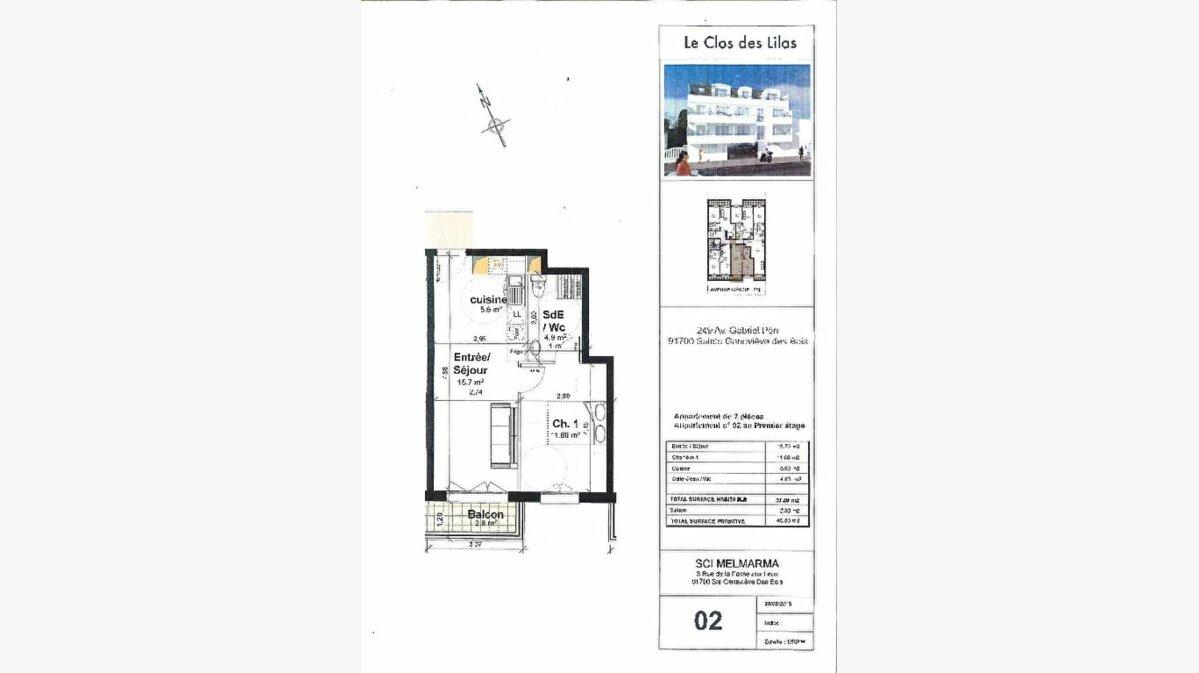 Achat Appartement 2 pièces à Sainte-Geneviève-des-Bois - vignette-2