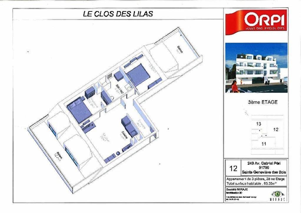 Achat Appartement 2 pièces à Sainte-Geneviève-des-Bois - vignette-3