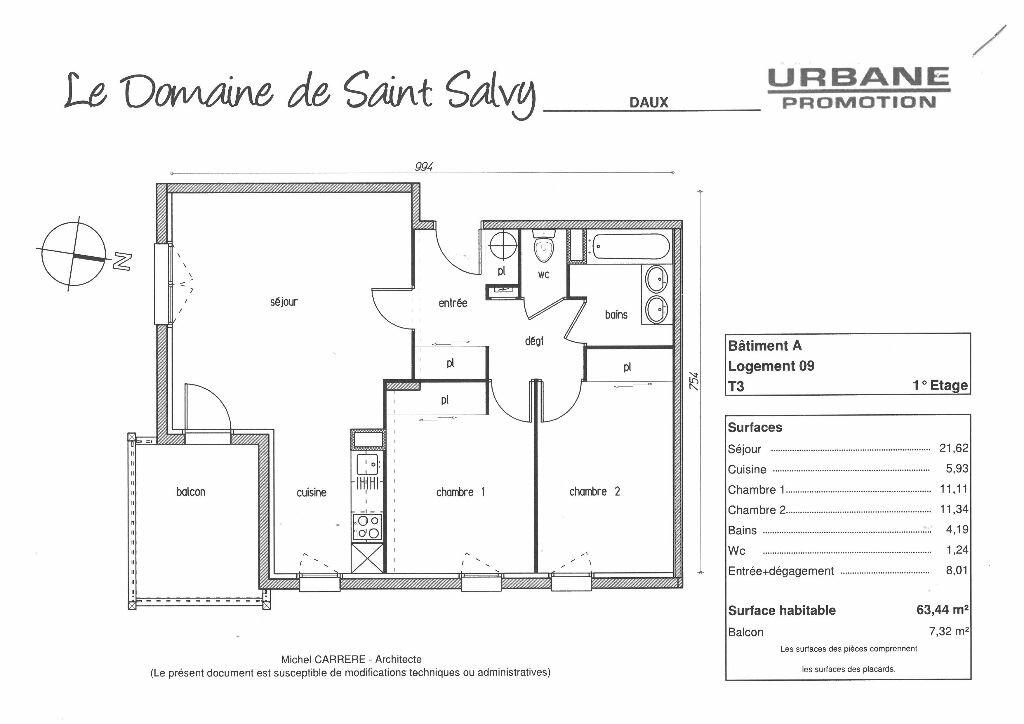 Location Appartement 3 pièces à Daux - vignette-4
