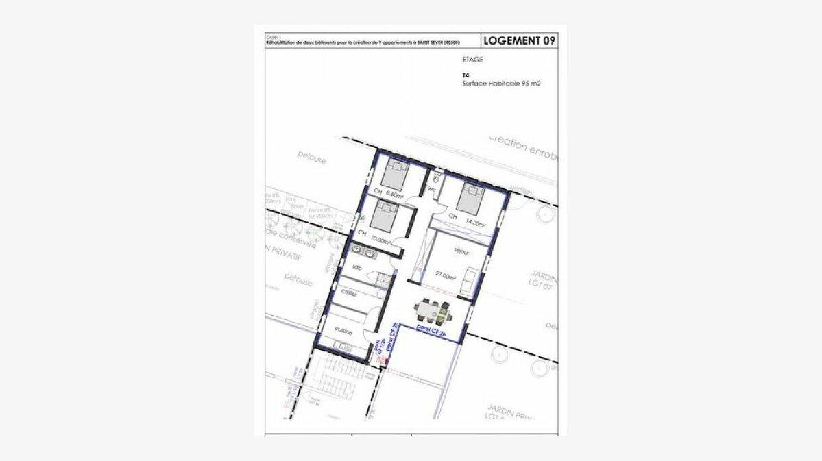 Achat Appartement 4 pièces à Saint-Sever - vignette-1