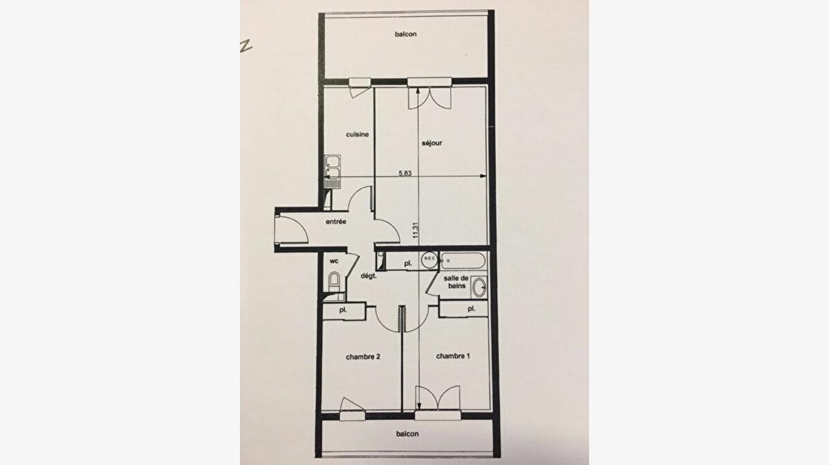 Achat Appartement 3 pièces à Fougères - vignette-2
