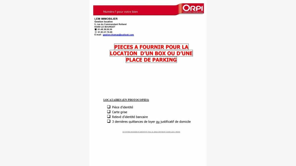 Location Stationnement  à Le Bourget - vignette-1