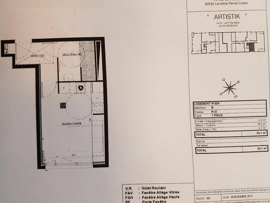 Location Appartement 1 pièce à Bobigny - vignette-1
