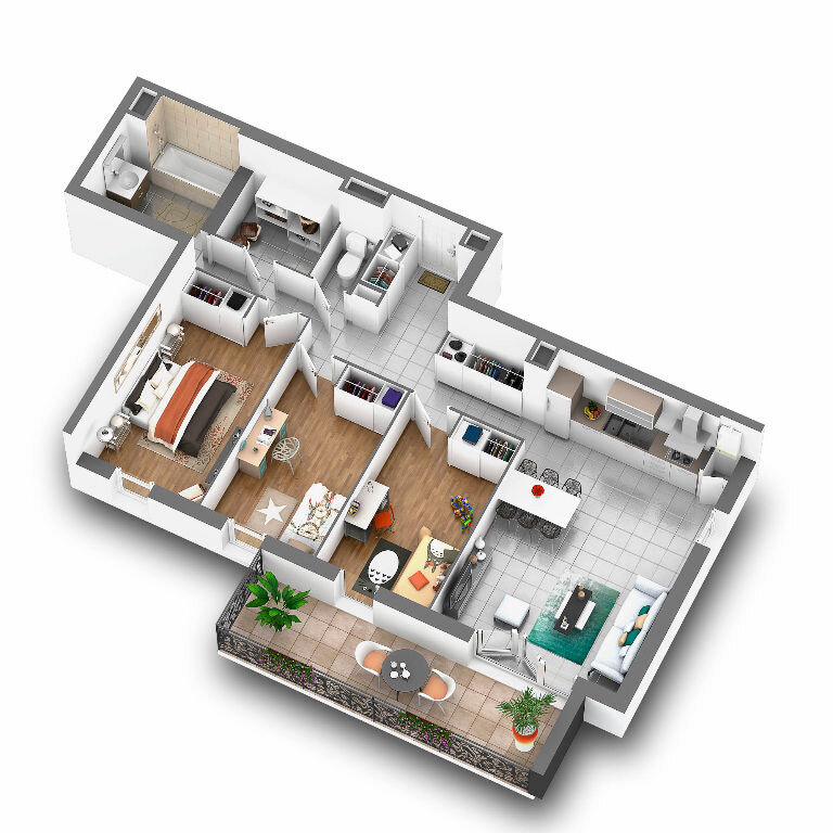 Achat Appartement 3 pièces à Taluyers - vignette-1