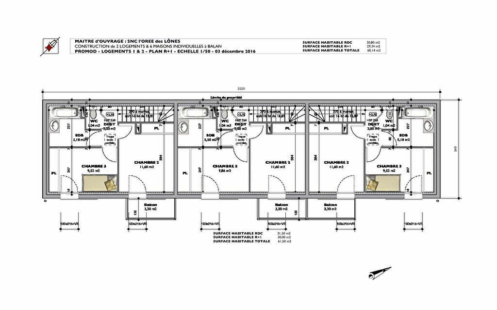 Achat Appartement 3 pièces à Balan - vignette-2