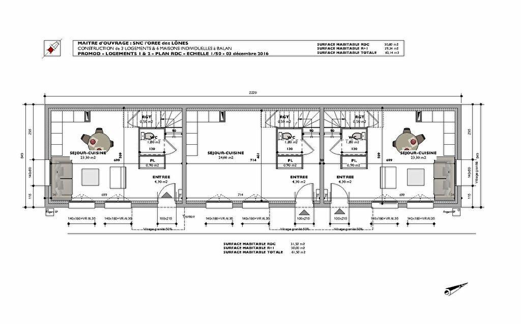 Achat Appartement 3 pièces à Balan - vignette-3