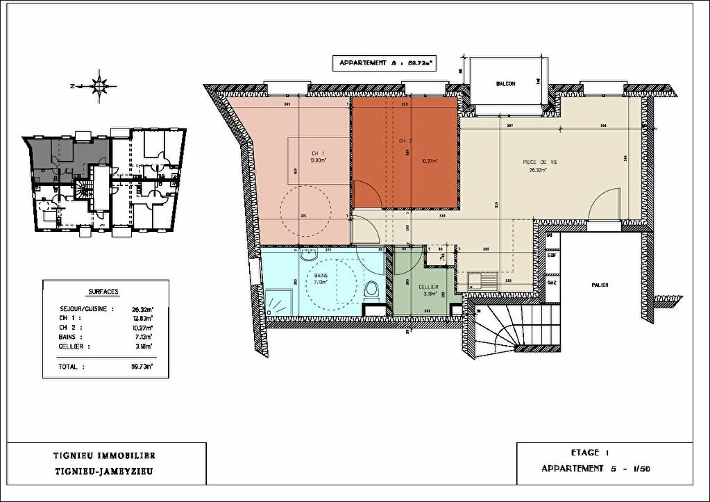 Achat Appartement 3 pièces à Tignieu-Jameyzieu - vignette-1
