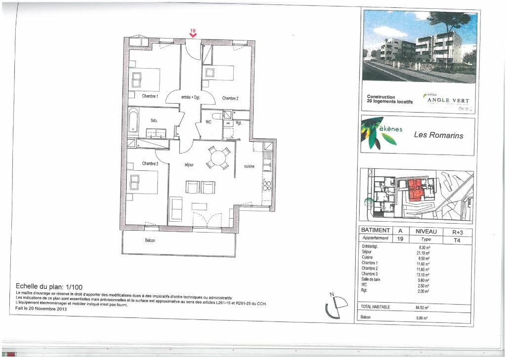 Location Appartement 4 pièces à Lormont - vignette-1