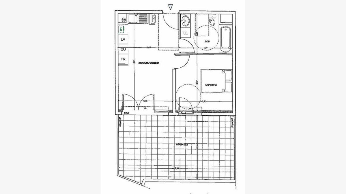 Achat Appartement 2 pièces à Les Angles - vignette-1