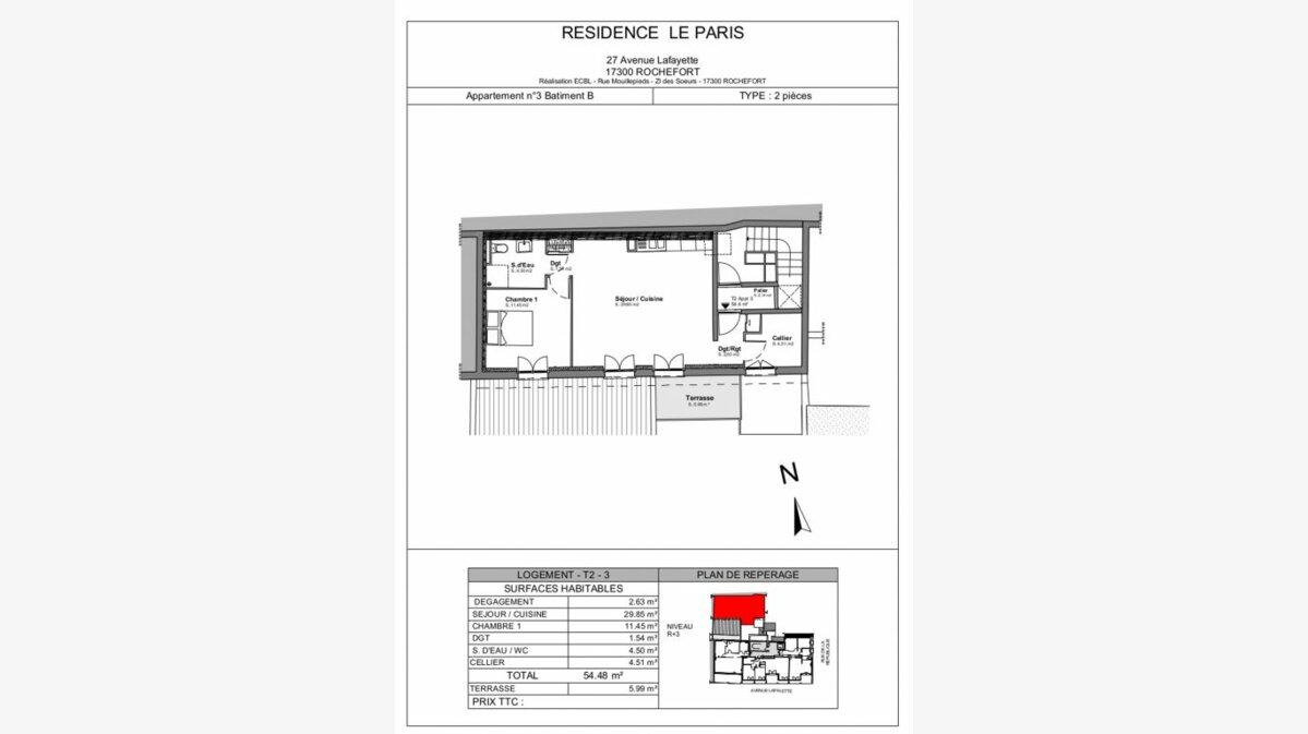 Achat Appartement 2 pièces à Rochefort - vignette-2