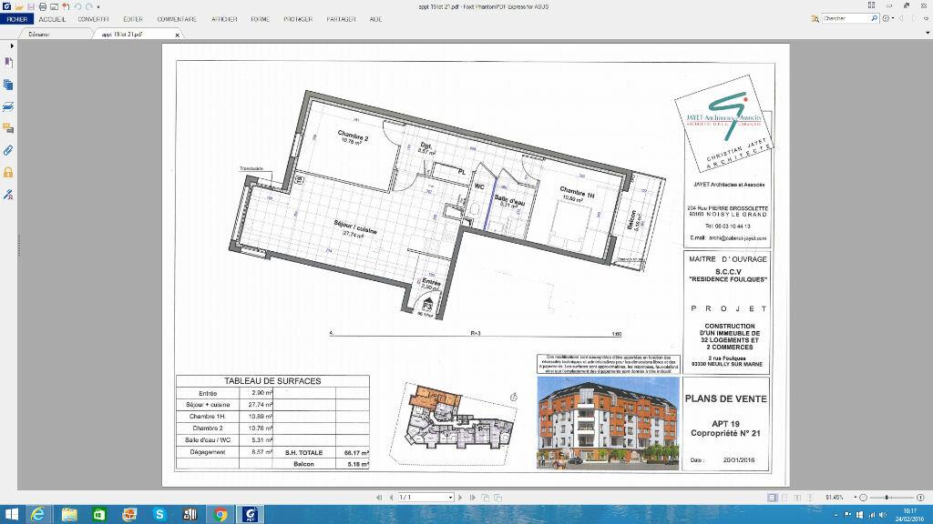 Achat Appartement 3 pièces à Neuilly-sur-Marne - vignette-1