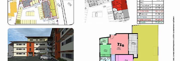 Location Appartement 3 pièces à Cayenne