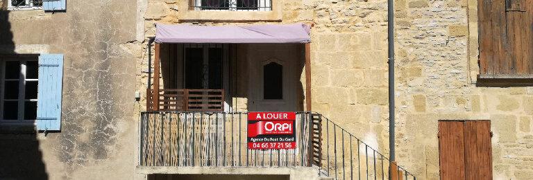 Location Maison 3 pièces à Saint-Bonnet-du-Gard