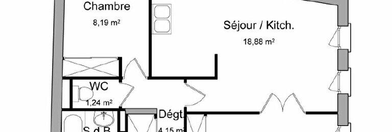 Location Appartement 2 pièces à Pézenas