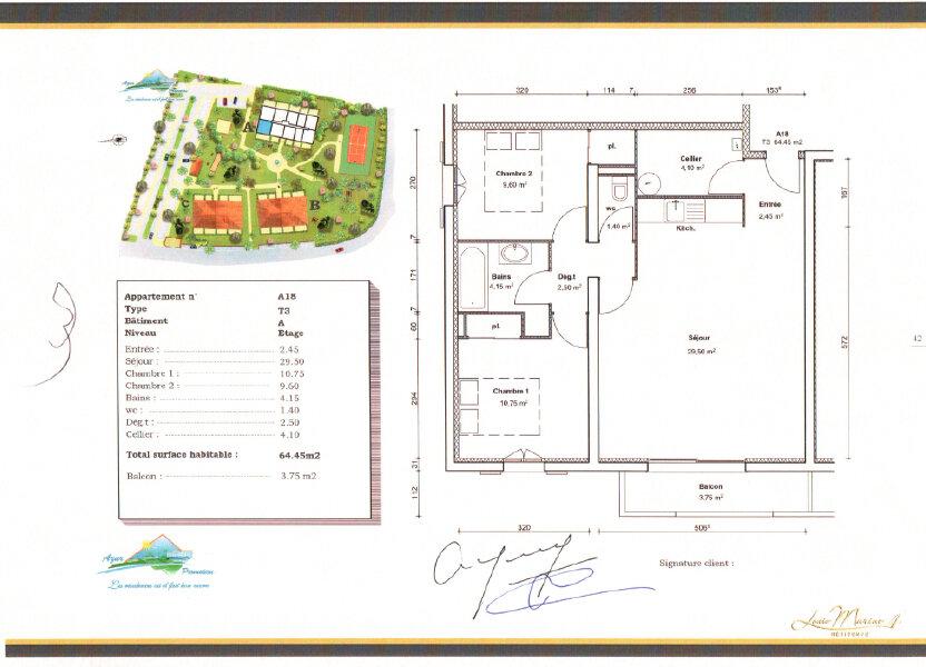 Appartement à louer 65.41m2 à Tonnay-Charente
