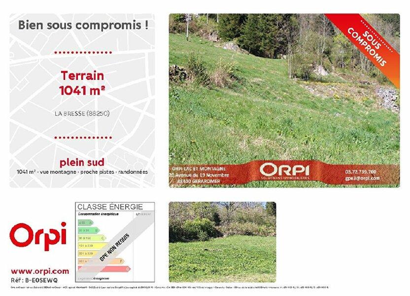 Terrain à vendre 1041m2 à La Bresse