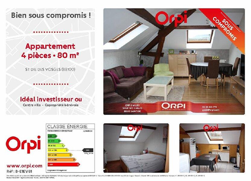 Appartement à vendre 79.65m2 à Saint-Dié-des-Vosges