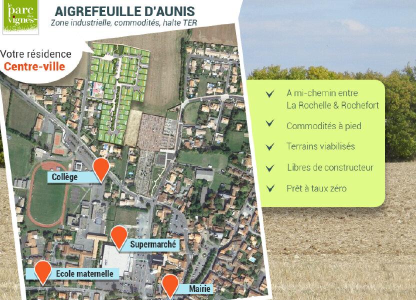 Terrain à vendre 273m2 à Aigrefeuille-d'Aunis