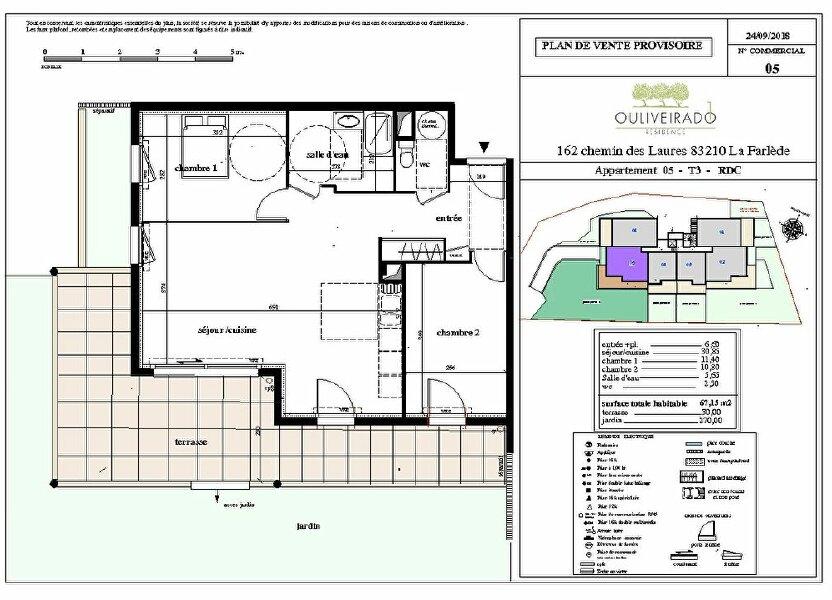 Appartement à vendre 67.15m2 à La Farlède