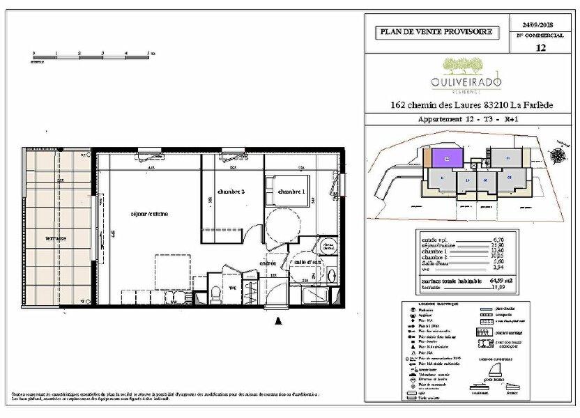 Appartement à vendre 64.59m2 à La Farlède