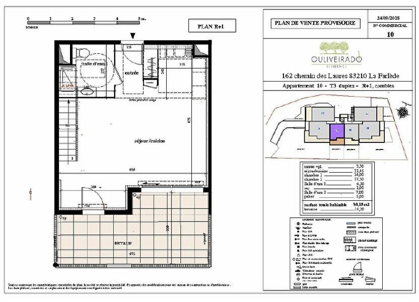 Appartement à vendre 84.15m2 à La Farlède