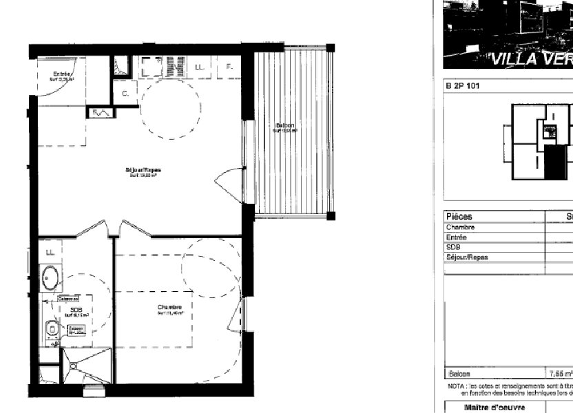 Appartement à louer 39.65m2 à Souffelweyersheim