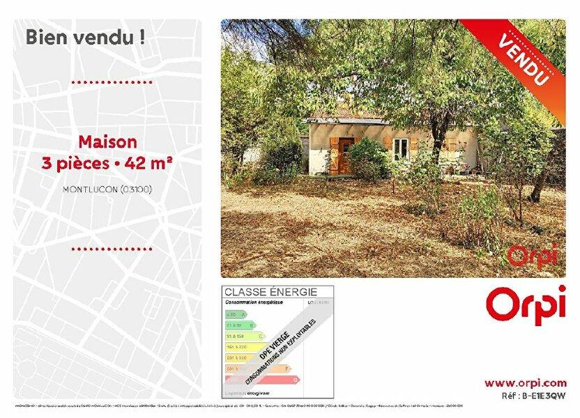 Maison à vendre 42m2 à Montluçon