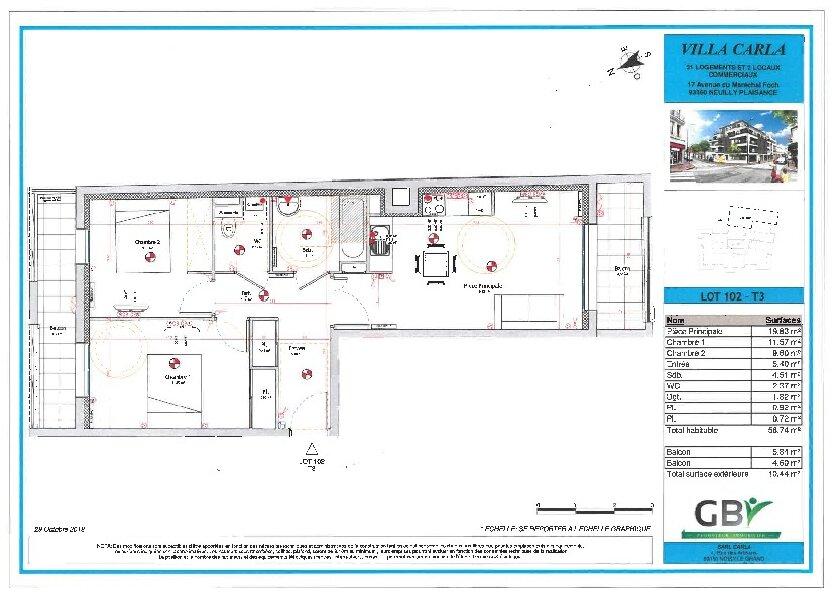 Appartement à vendre 56.74m2 à Neuilly-Plaisance