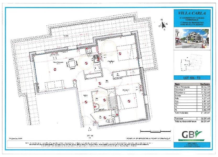 Appartement à vendre 61.39m2 à Neuilly-Plaisance