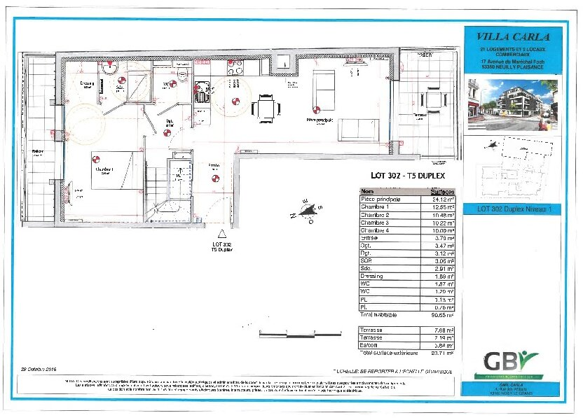 Appartement à vendre 90.73m2 à Neuilly-Plaisance