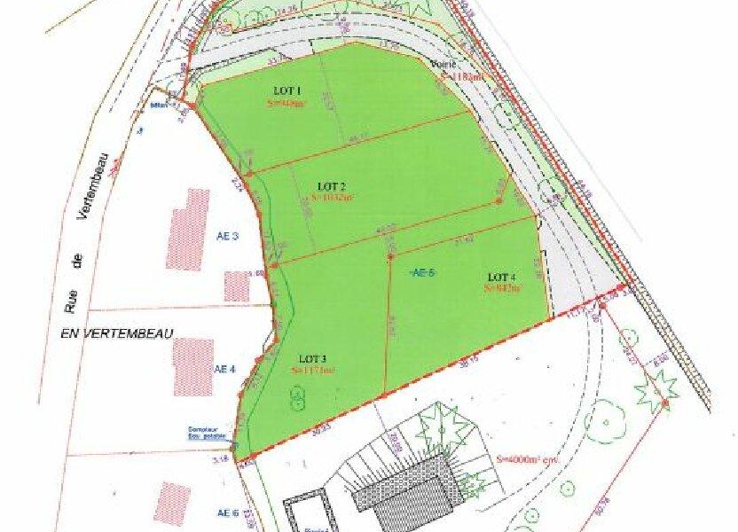 Terrain à vendre 948m2 à Châtenoy-en-Bresse