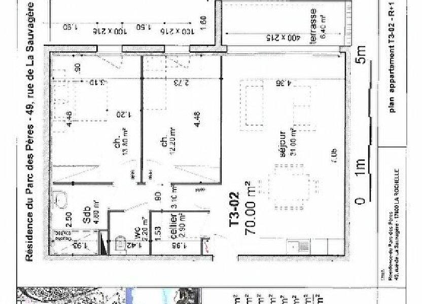 Appartement à vendre 70m2 à La Rochelle