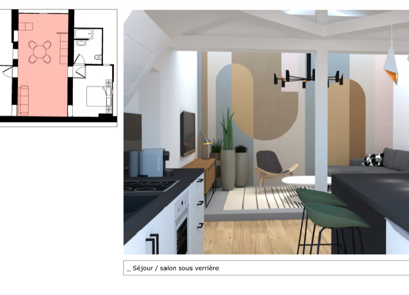 Appartement à vendre 51m2 à Champagne-au-Mont-d'Or